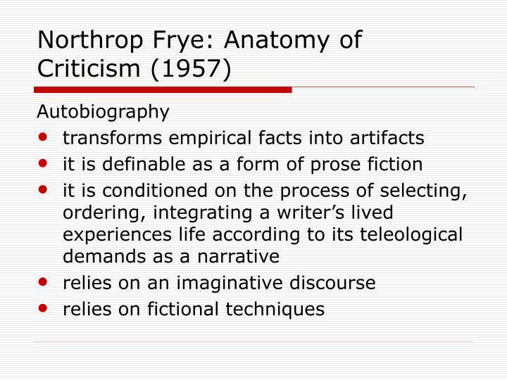 Northrop Frye: Anatomy of Criticism (1957)