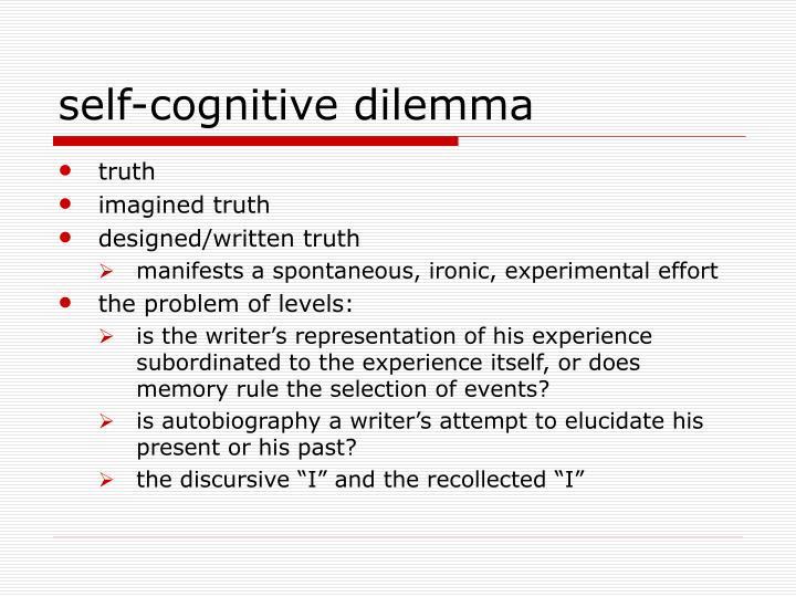 self-cognitive dilemma
