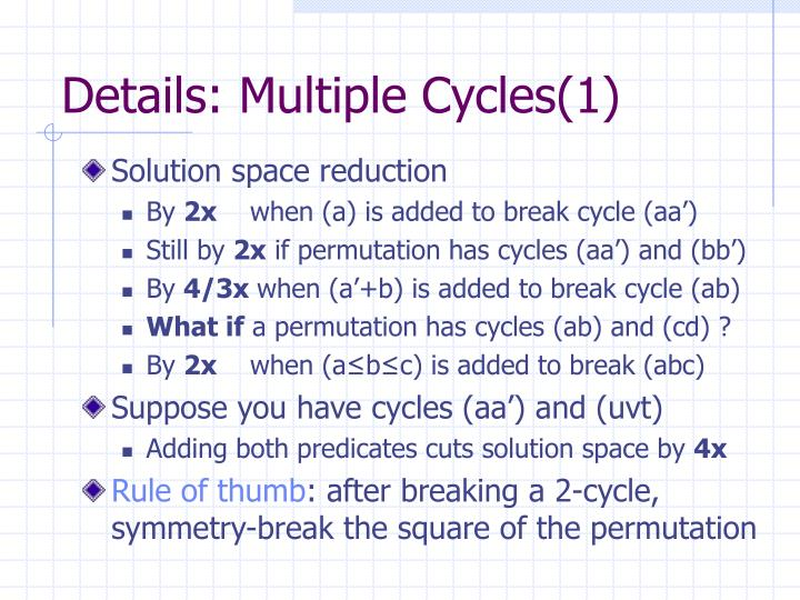 Details: Multiple Cycles(1)