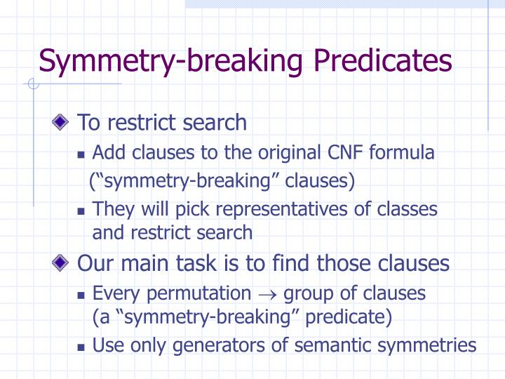 Symmetry-breaking Predicates