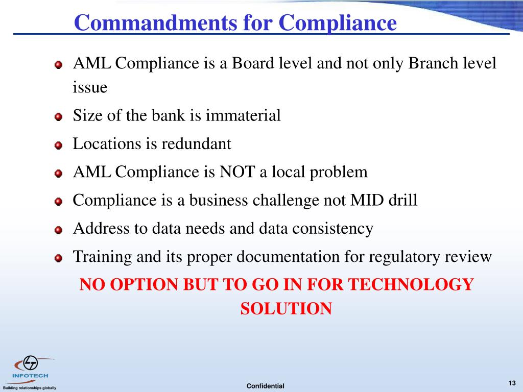 Commandments for Compliance