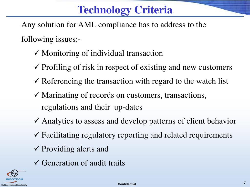 Technology Criteria