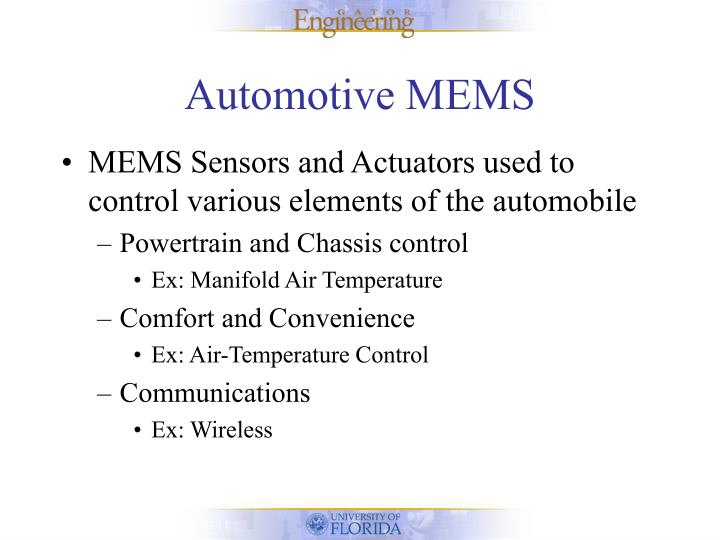 Automotive MEMS