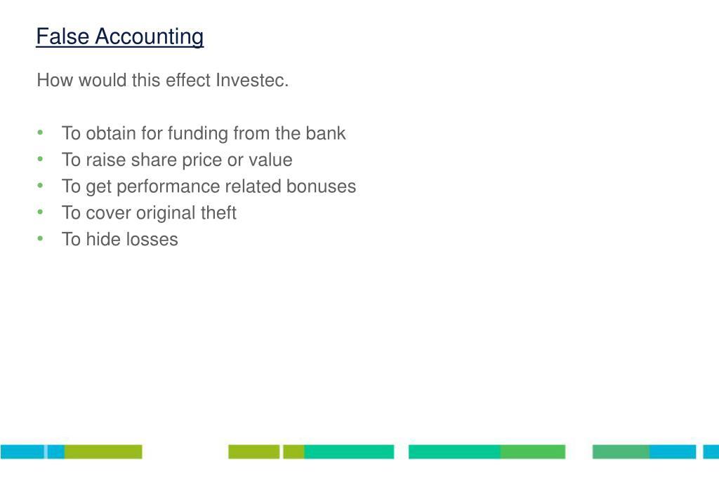 False Accounting