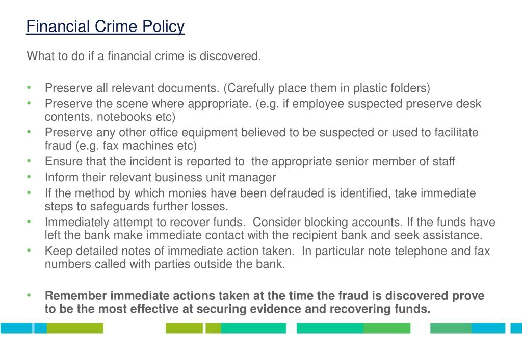 Financial Crime Policy
