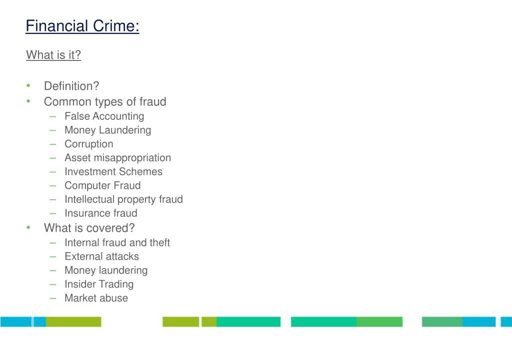 Financial Crime: