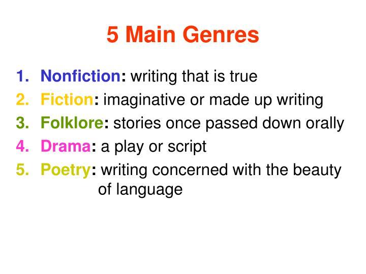 5 Main Genres