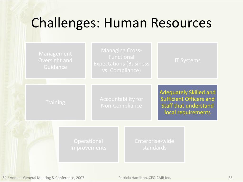 Challenges: Human Resources