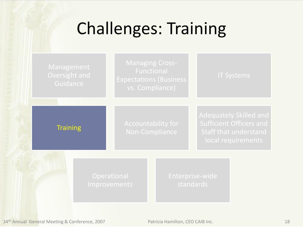 Challenges: Training