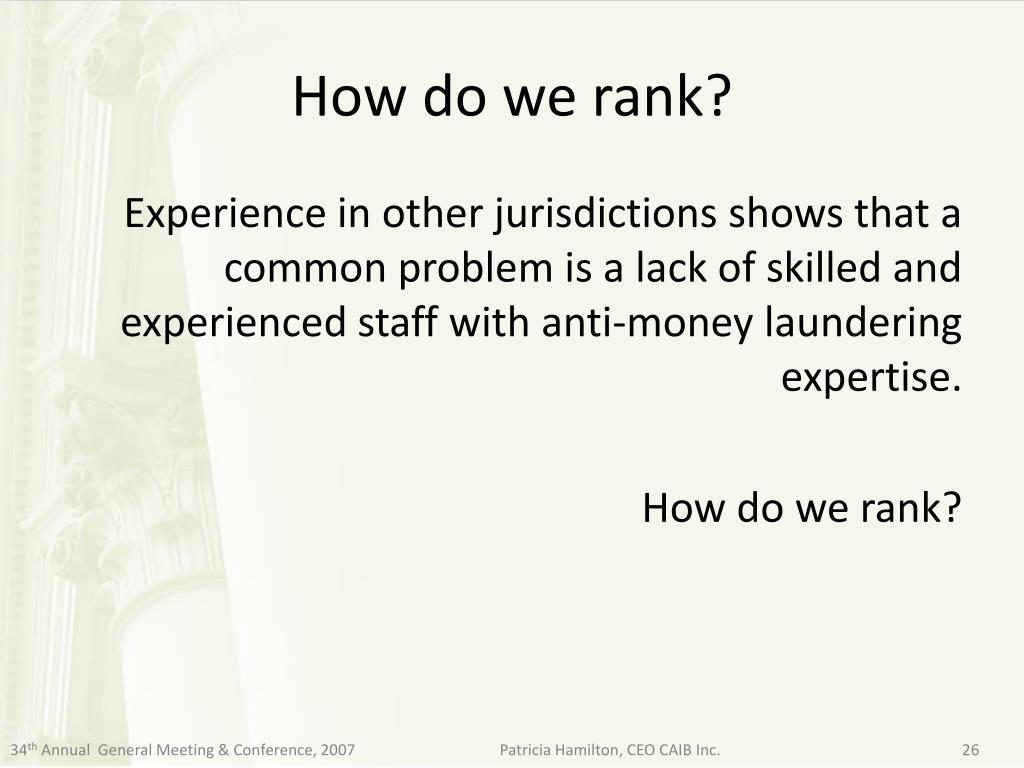 How do we rank?