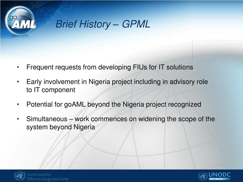 Brief History – GPML
