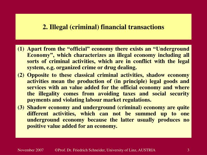 2 illegal criminal financial transactions l.jpg