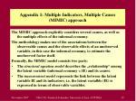 appendix 1 multiple indicators multiple causes mimic approach
