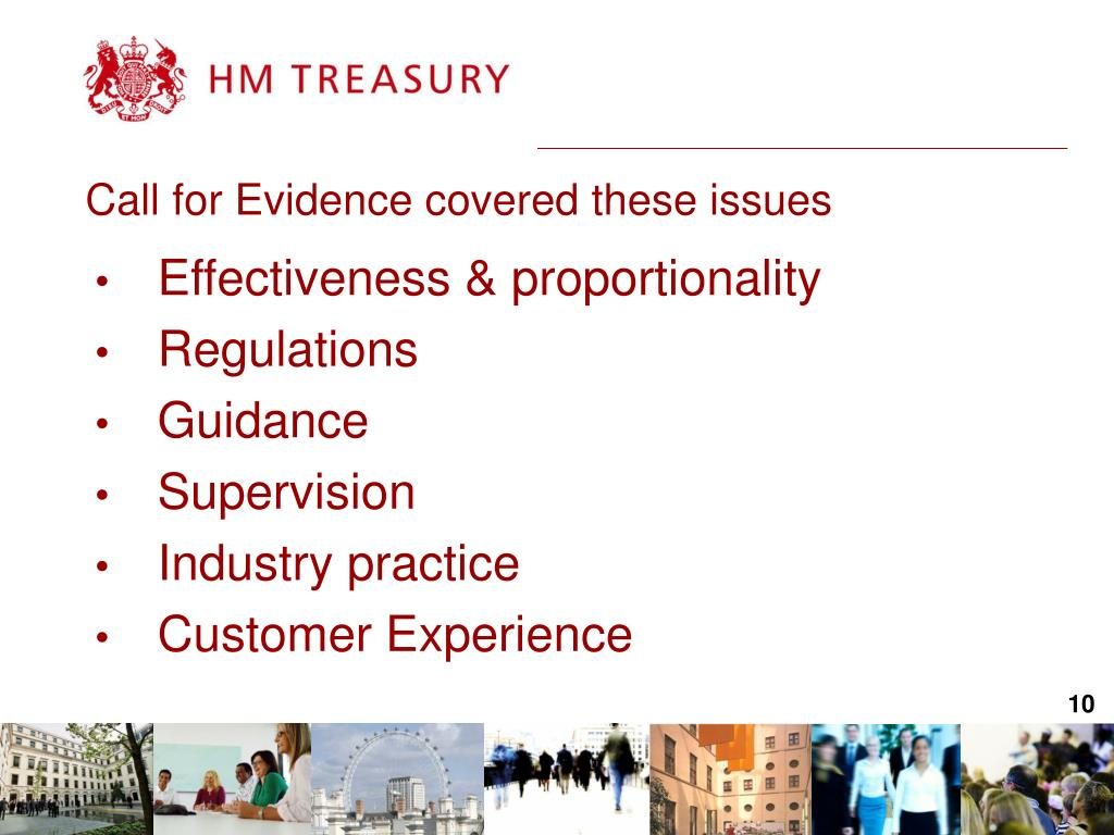Call for Evidence covered these issues