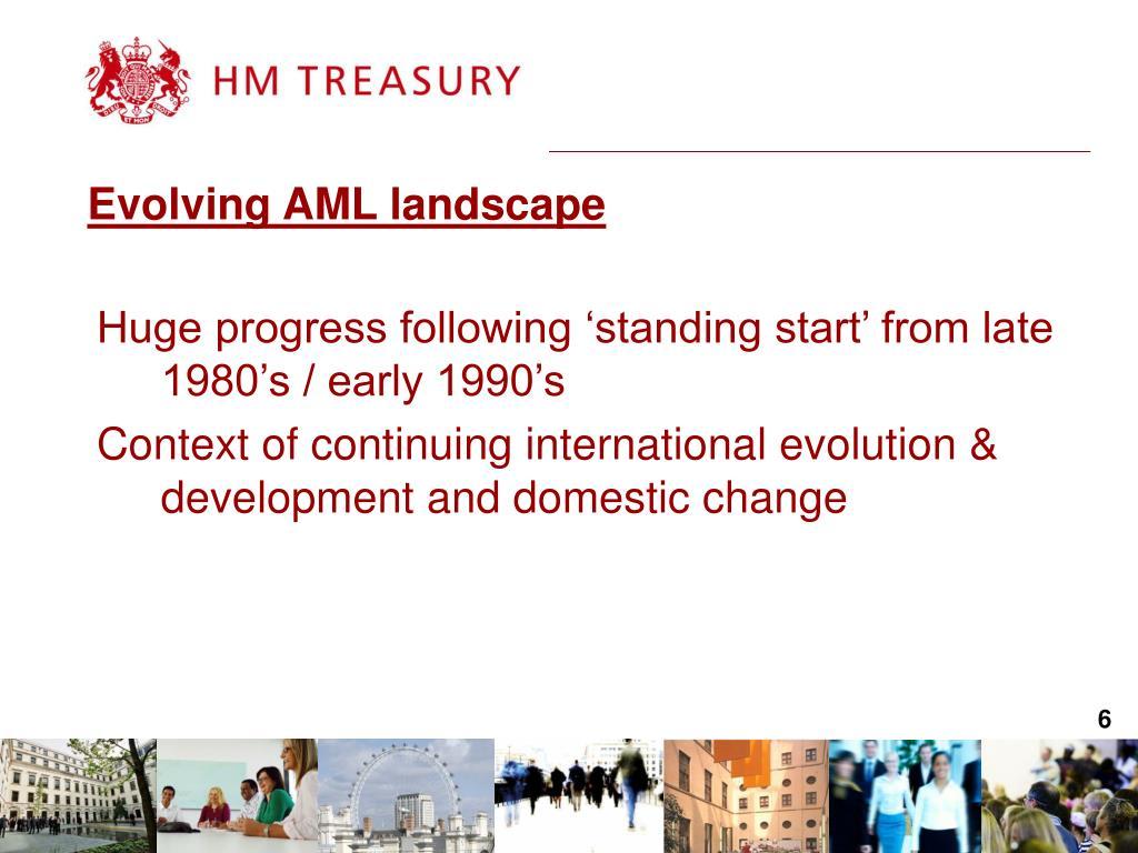 Evolving AML landscape