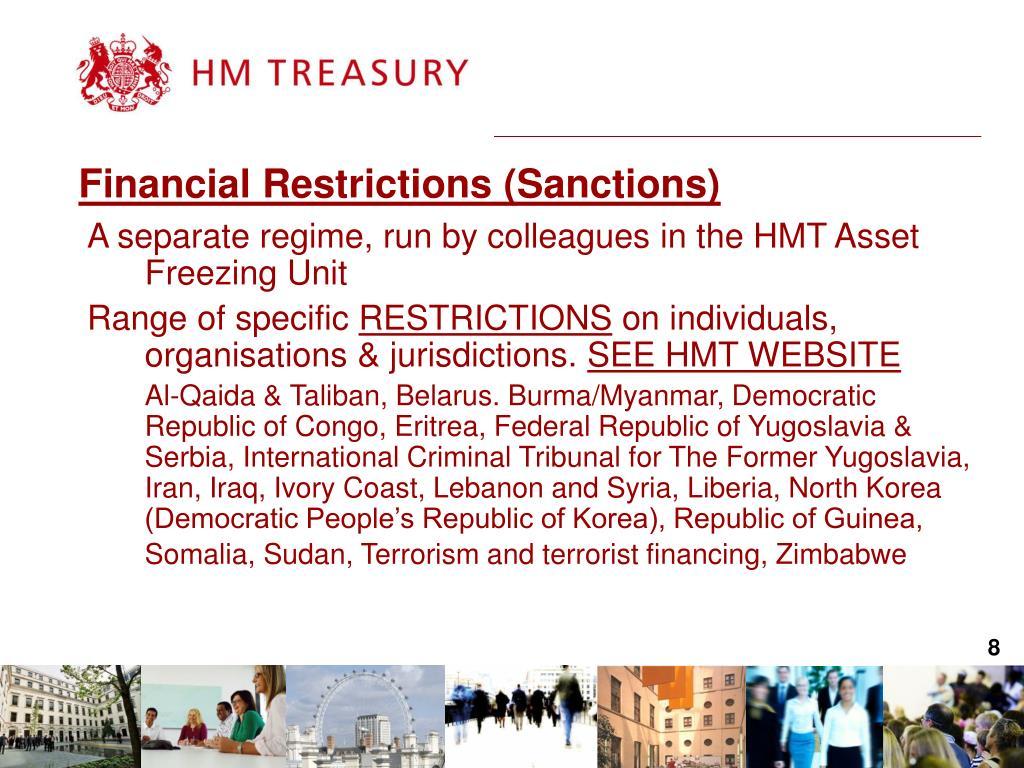 Financial Restrictions (Sanctions)