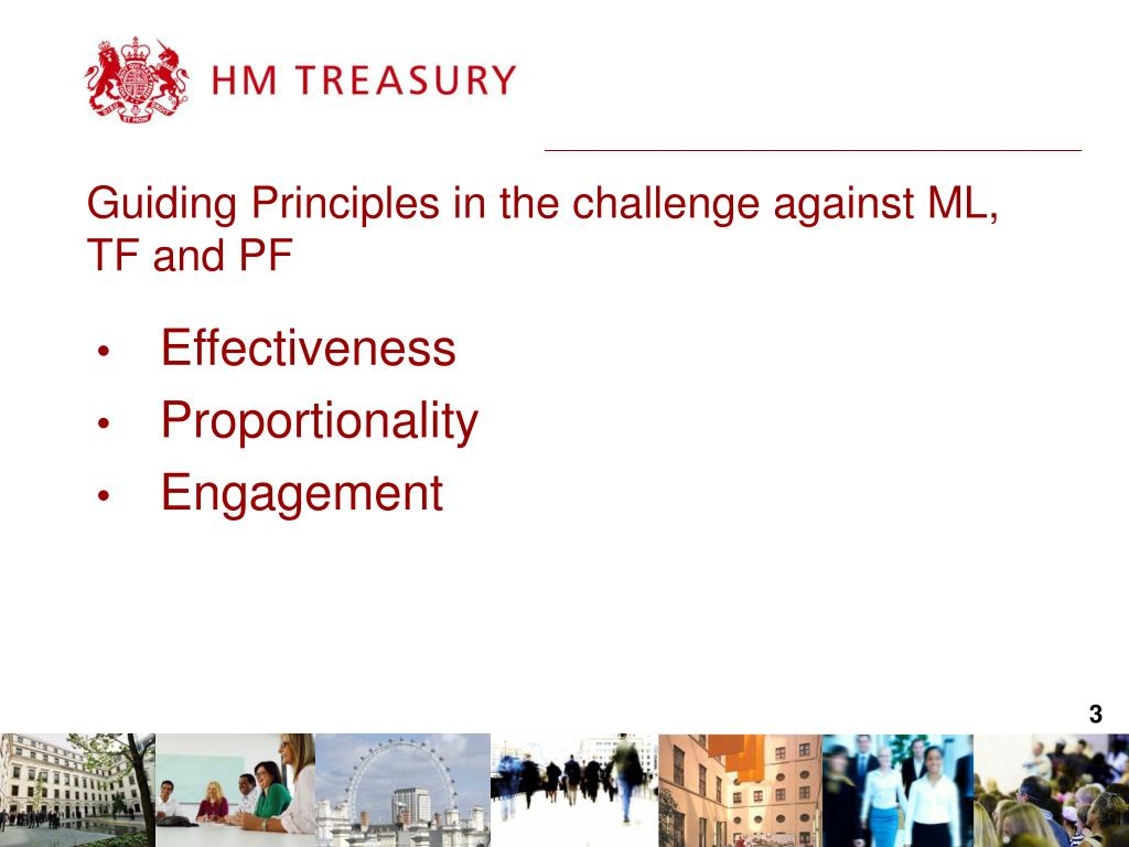 Guiding Principles in the challenge against ML, TF and PF