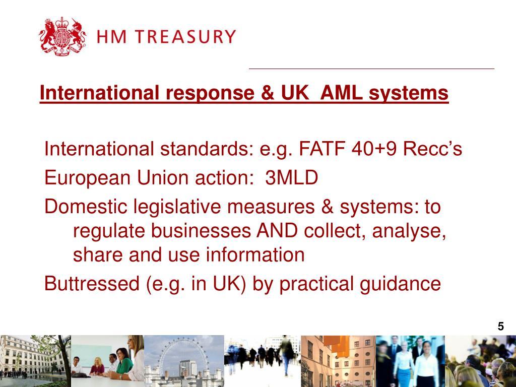 International response & UK  AML systems