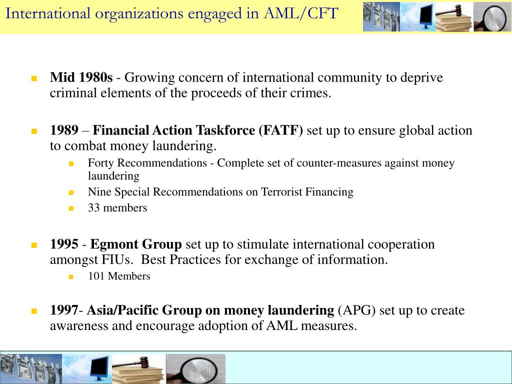International organizations engaged in AML/CFT