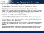 company ownership financing