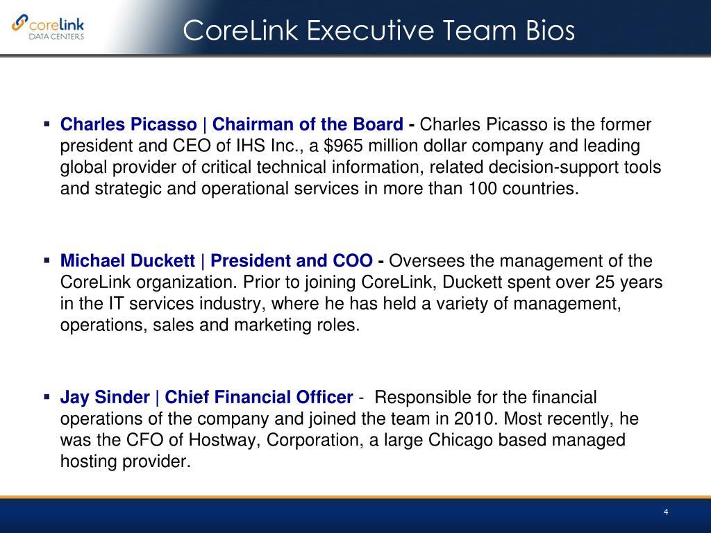 CoreLink Executive Team Bios
