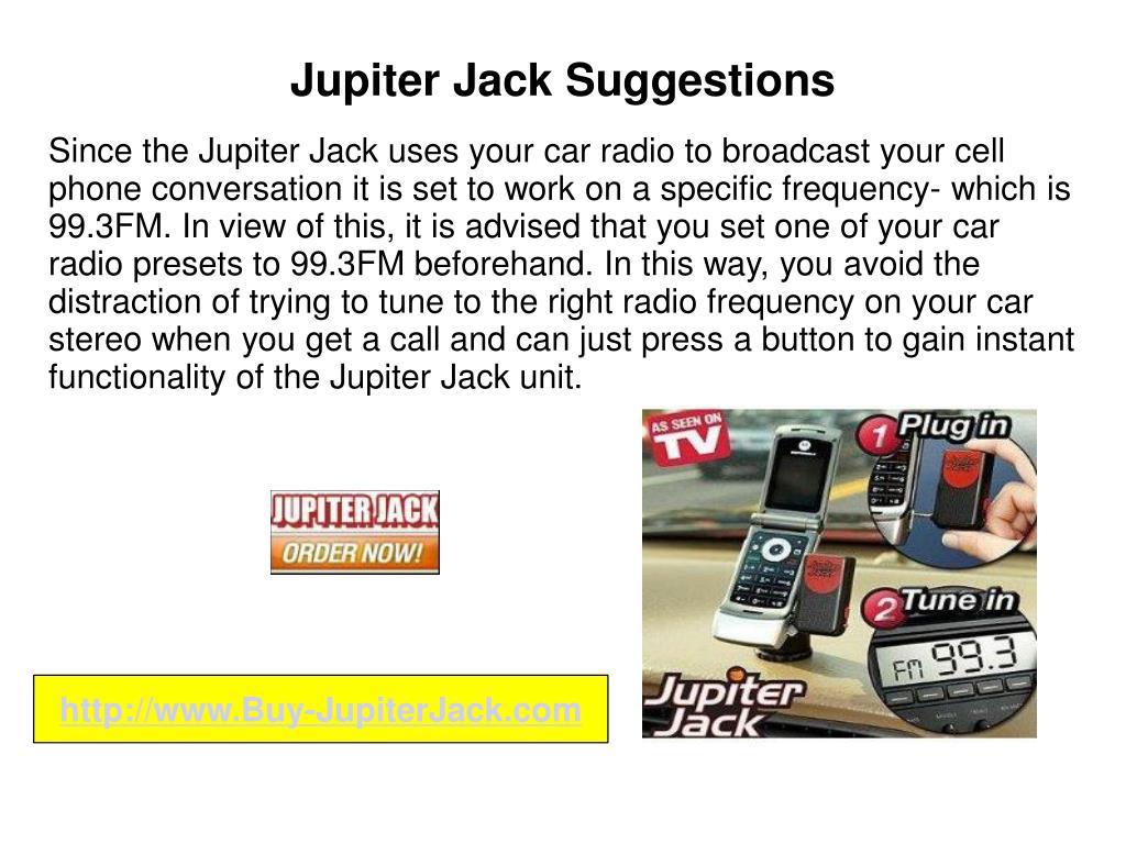 Jupiter Jack Suggestions