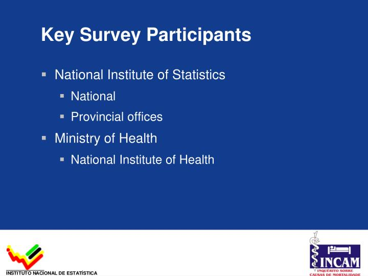 Key Survey Participants