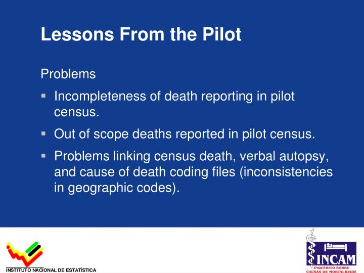 Lessons From the Pilot