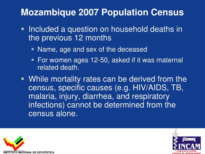 Mozambique 2007 Population Census