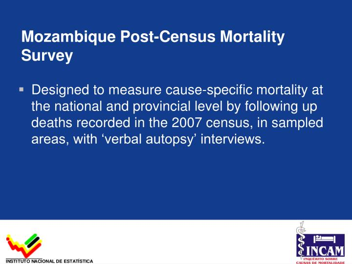Mozambique Post-Census Mortality Survey