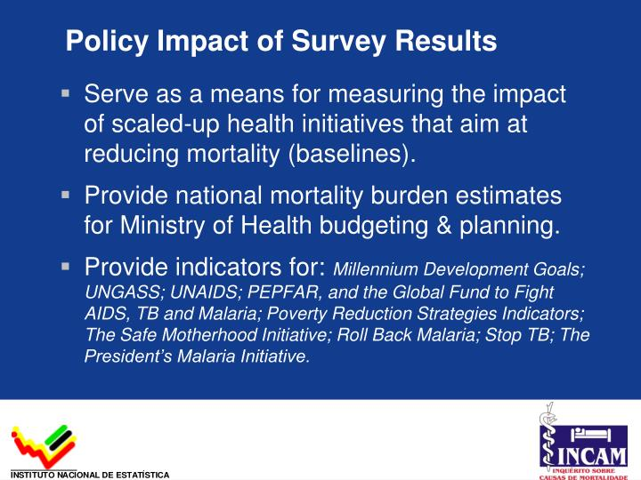 Policy Impact of Survey Results