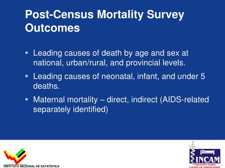 Post-Census Mortality Survey Outcomes