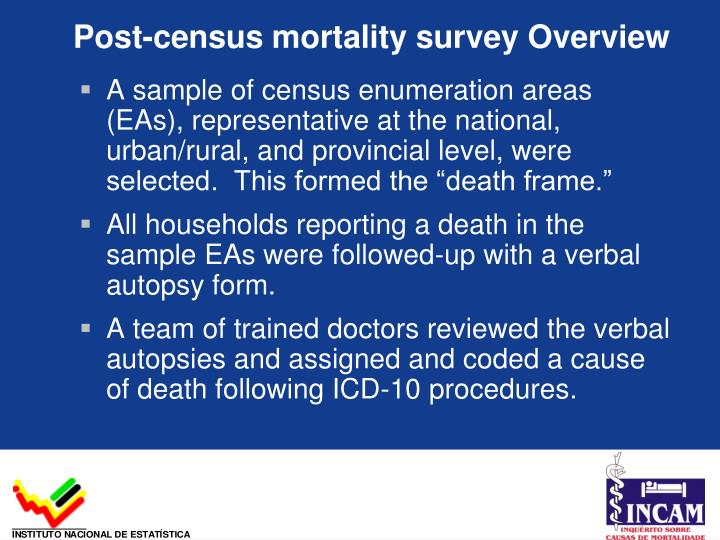 Post-census mortality survey Overview