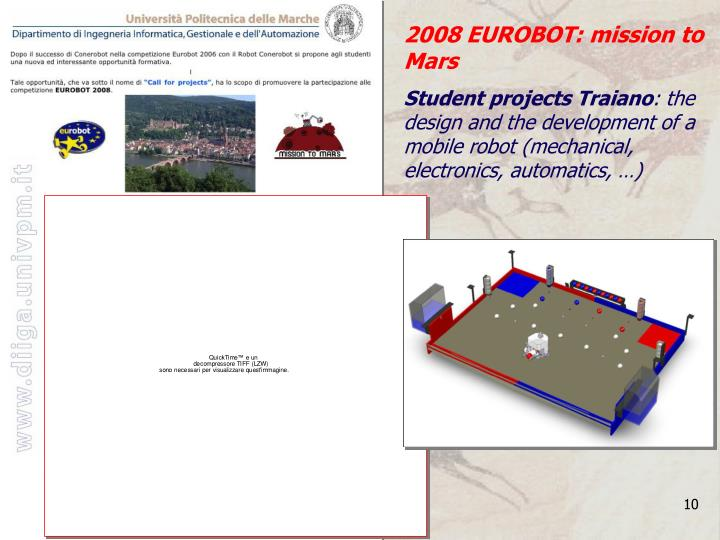 2008 EUROBOT: mission to Mars
