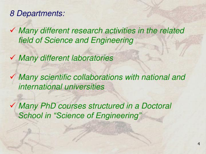 8 Departments: