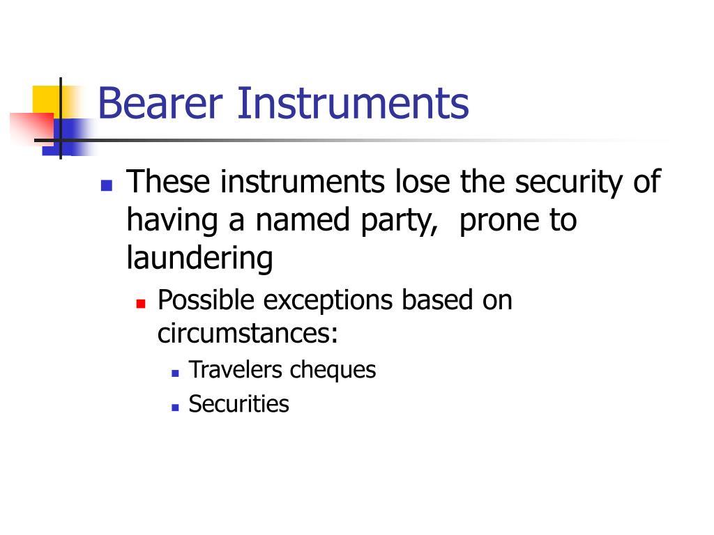 Bearer Instruments