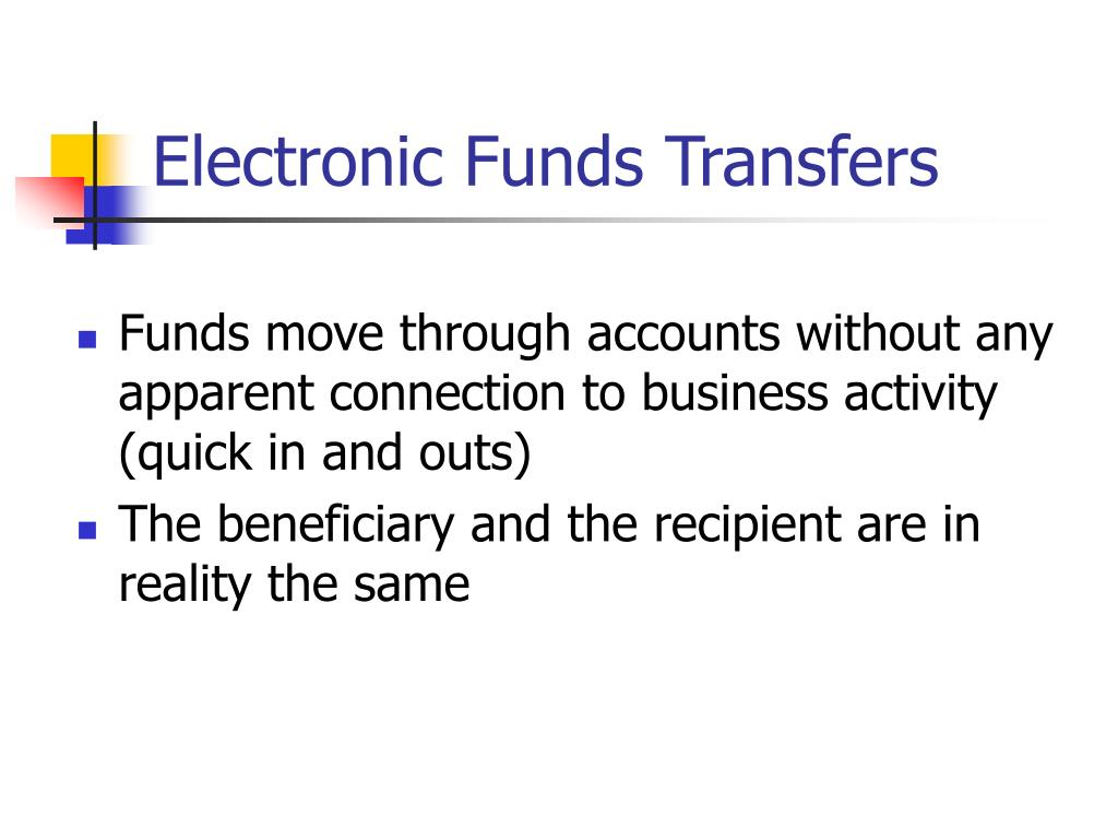 Electronic Funds Transfers