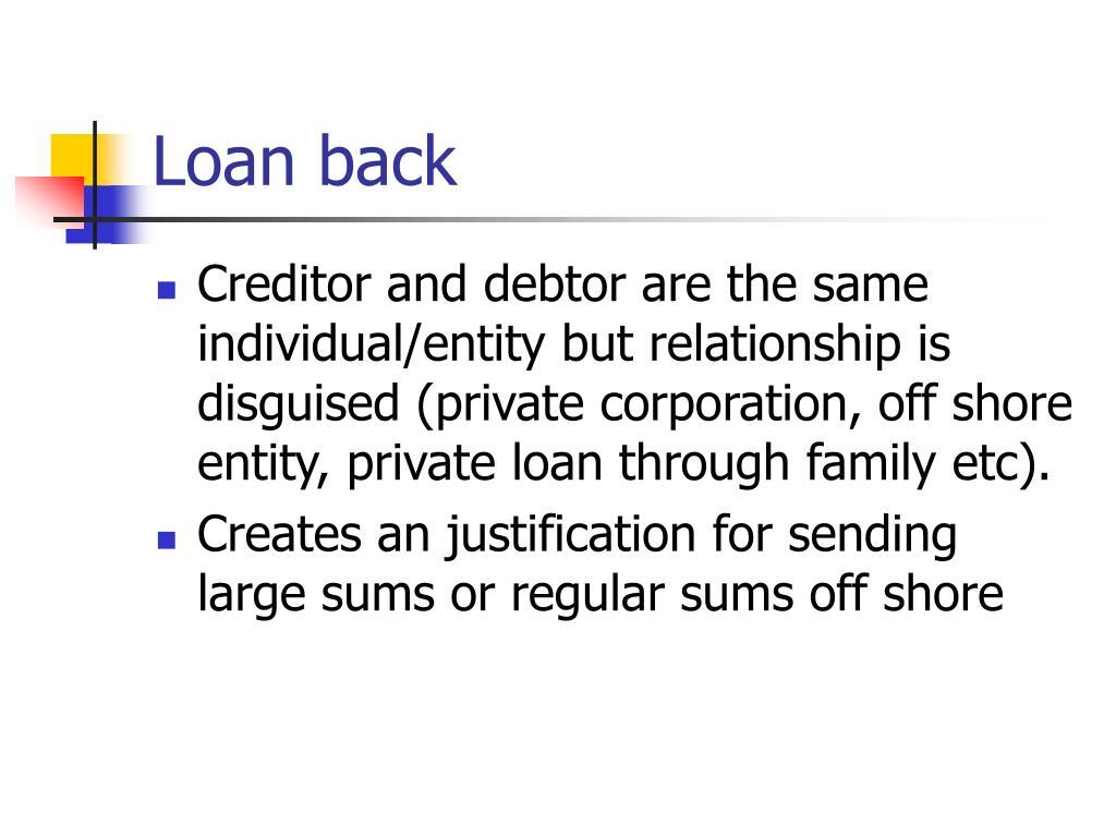 Loan back
