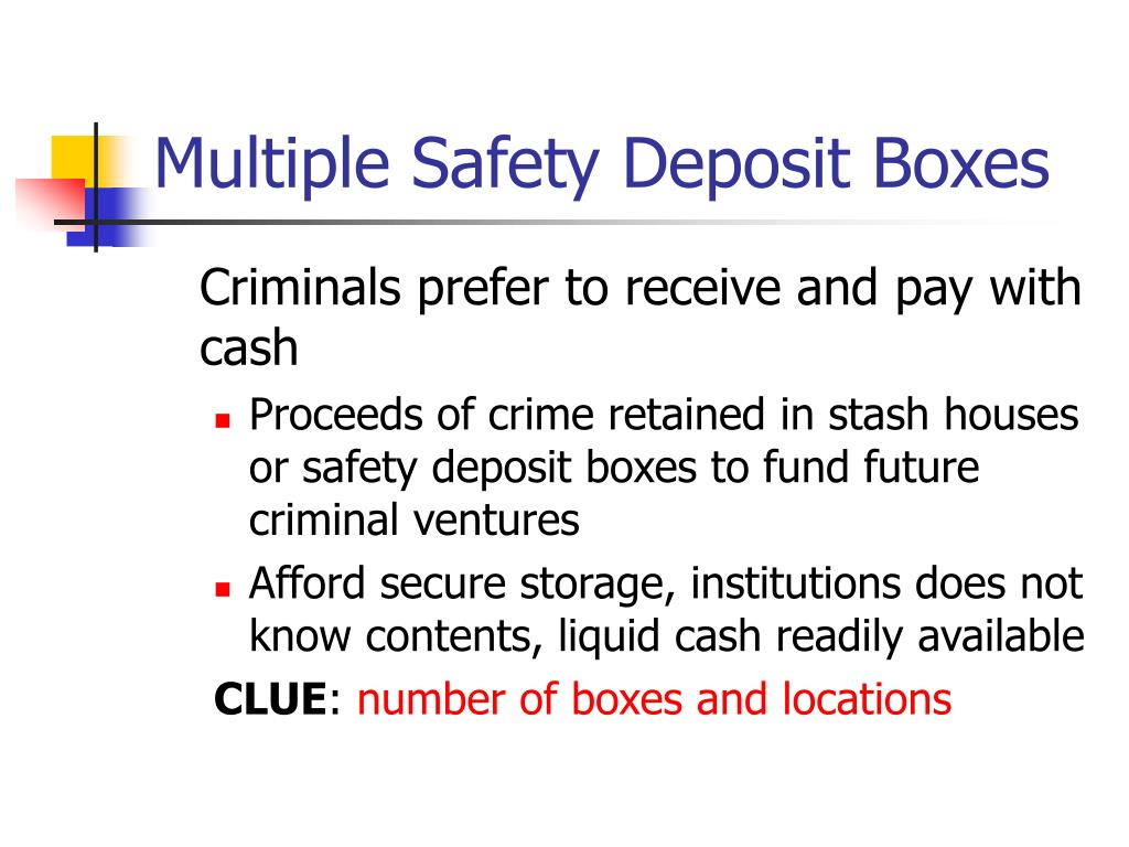Multiple Safety Deposit Boxes