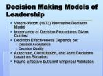 decision making models of leadership