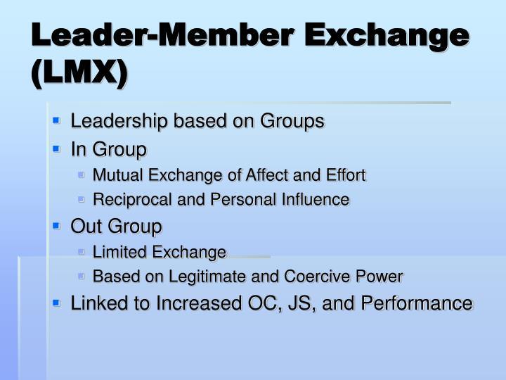 Leader-Member Exchange (LMX)