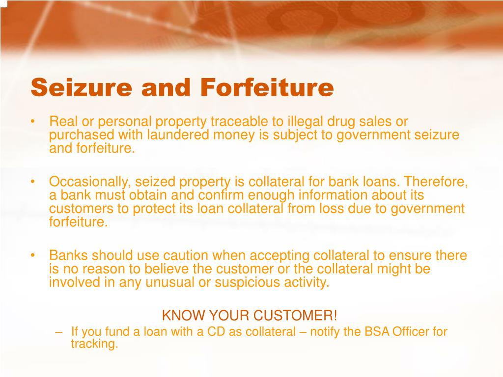 Seizure and Forfeiture