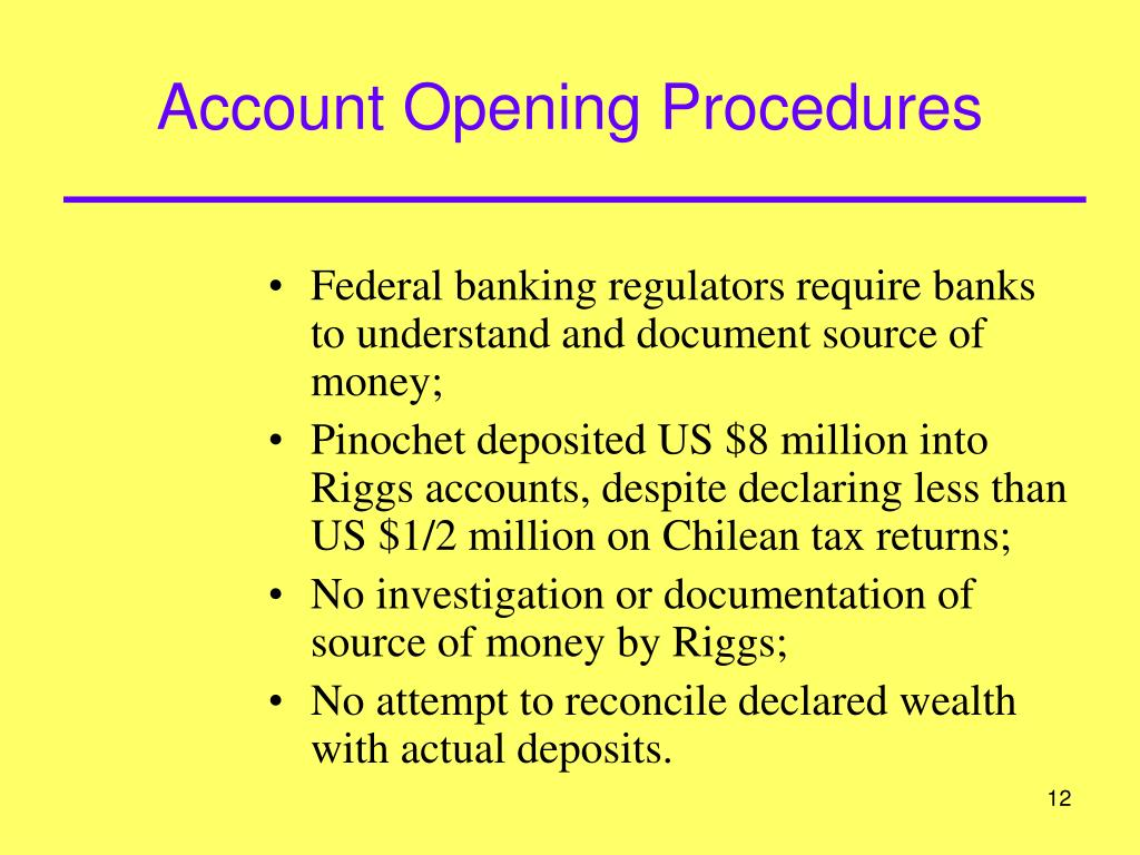 Account Opening Procedures