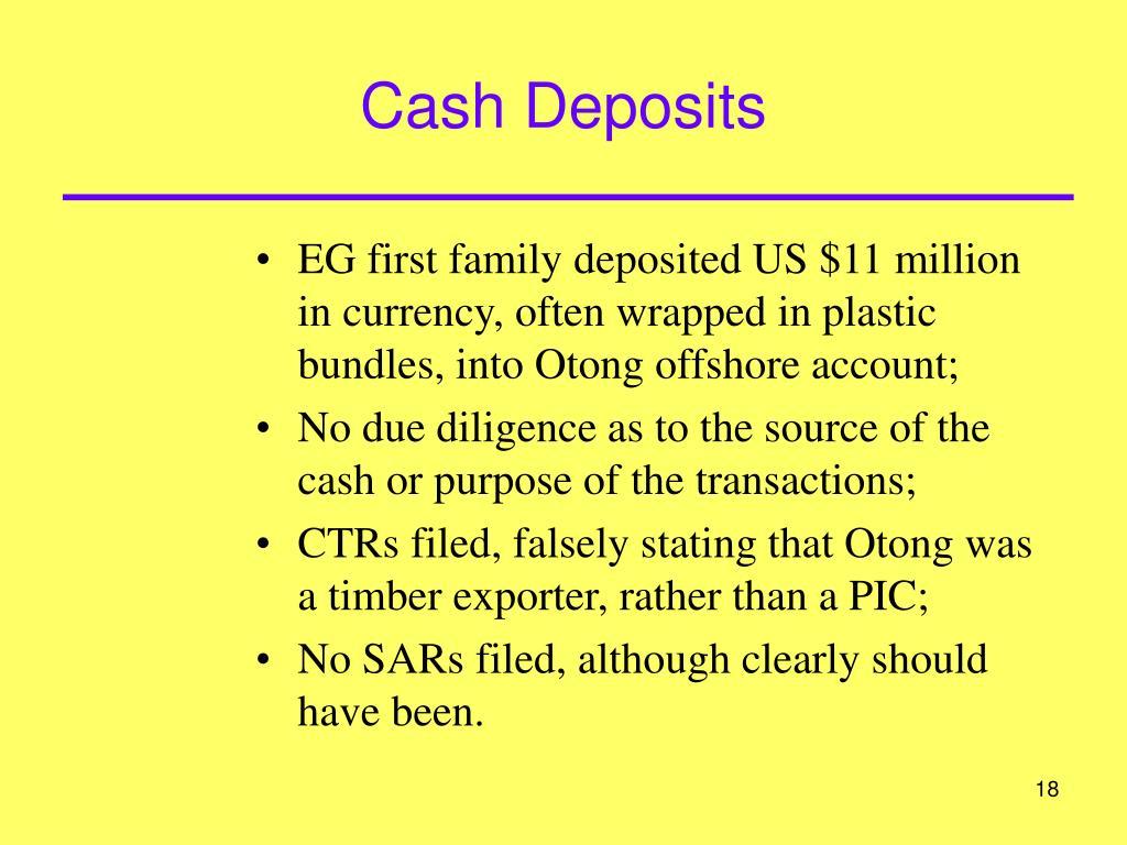 Cash Deposits