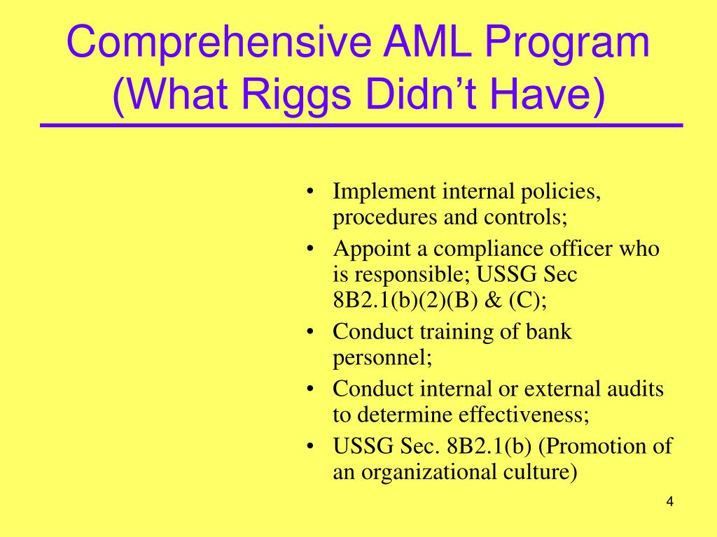 Comprehensive AML Program