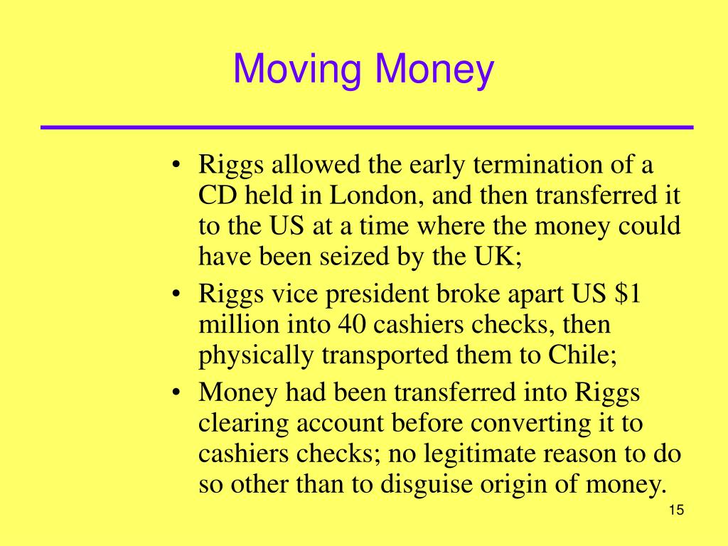 Moving Money