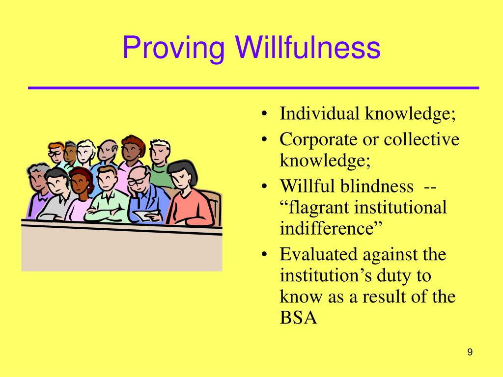 Proving Willfulness
