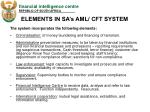 elements in sa s aml cft system