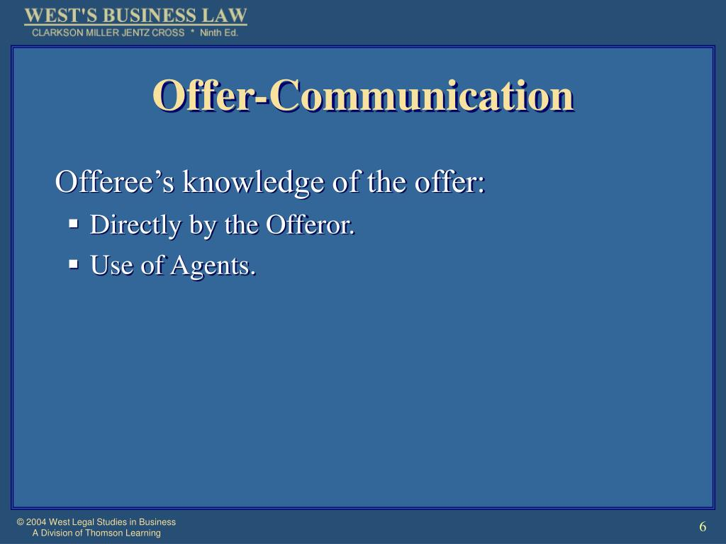 Offer-Communication