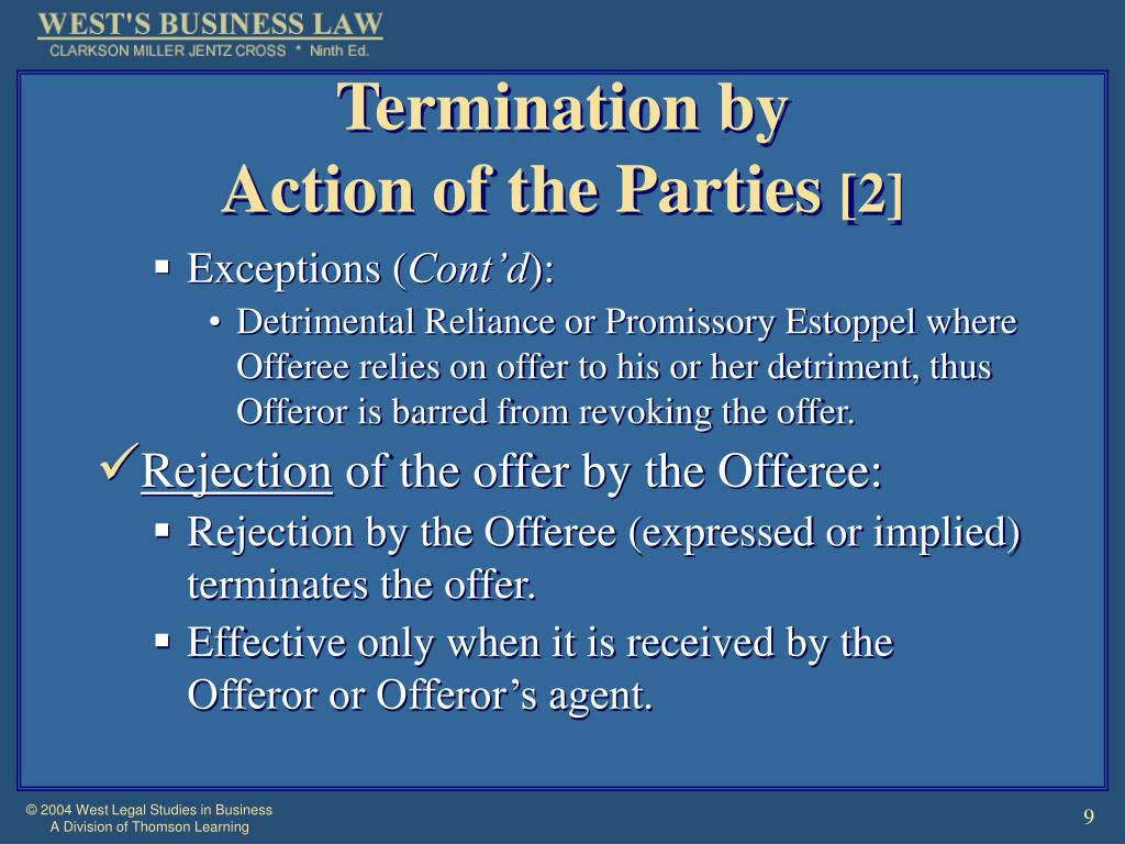 Termination by